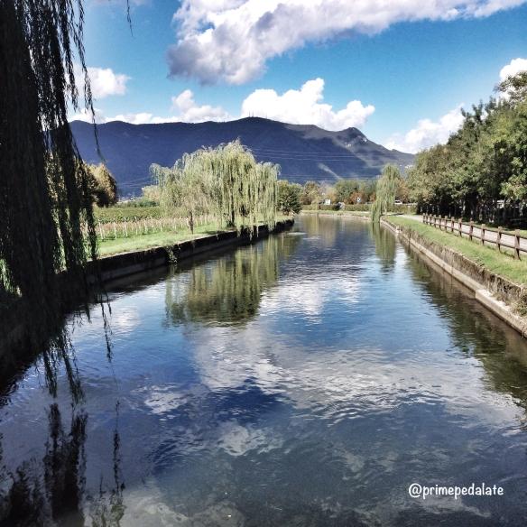 Vista dal ponticello sul Naviglio Grande di Brescia – ciclabile gavardina