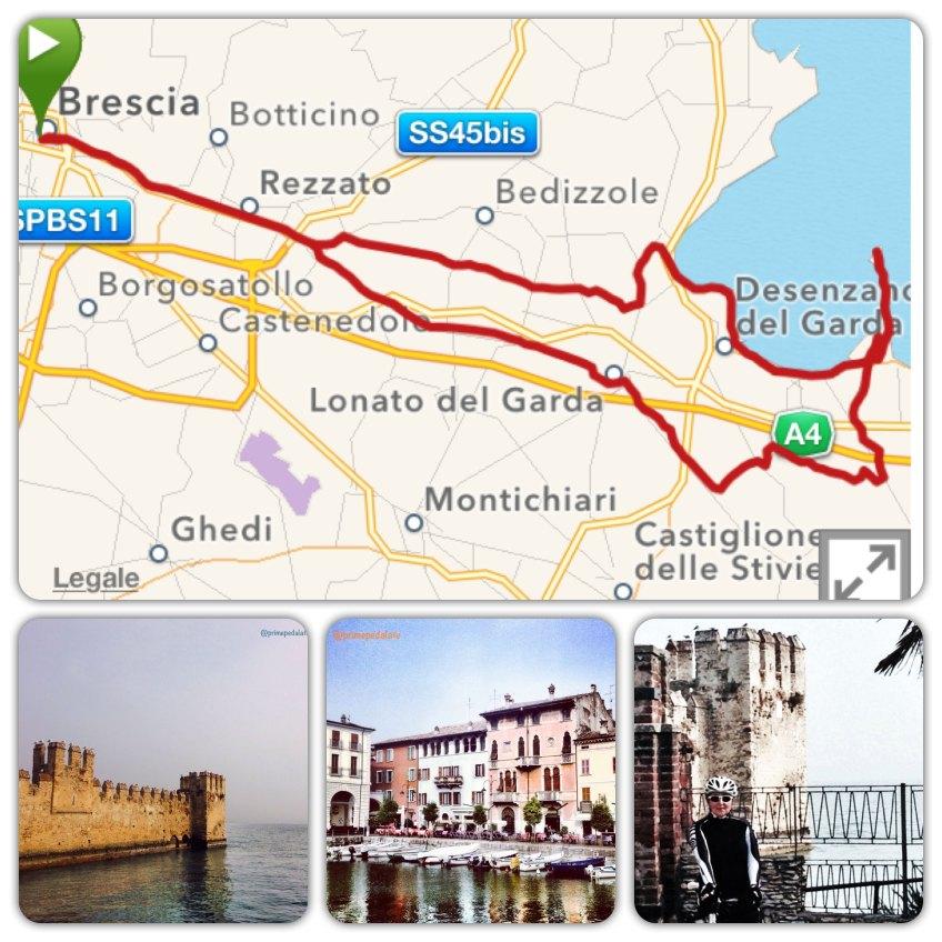 Percorso biclabile Brescia - lago di Garda